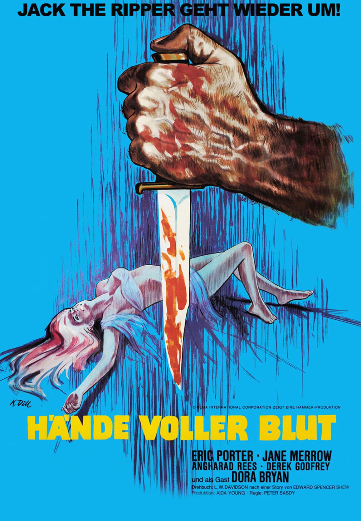 Hände voller Blut